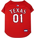 Pets First MLB TEXAS RANGERS Dog Jersey, X-Small. - Pro Team Color Baseball Outfit