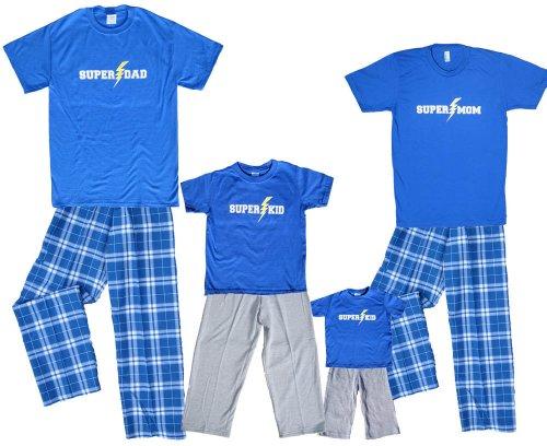 Super Kid Blue Shirt Pant Set - Youth Small, S/S, ROY Plaid Pants