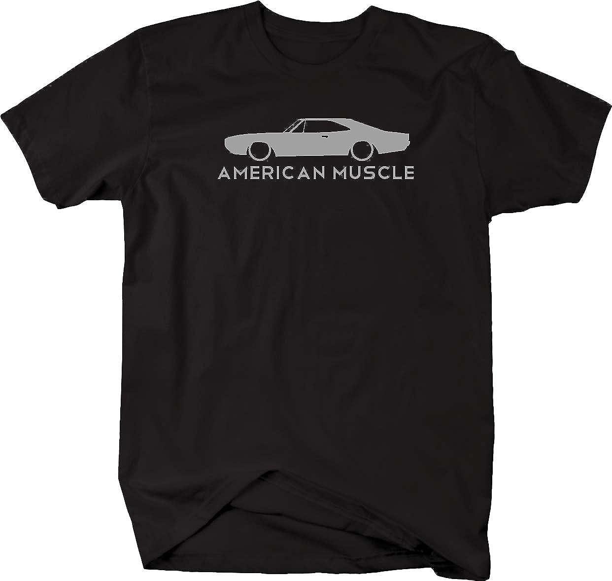 American Muscle Dodge Mopar Charger Challenger Car Hemi Mens T Shirt-4LVS