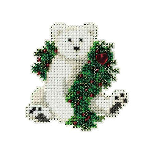 Mill Hill Holiday Polar Bear Beaded Counted Cross Stitch Ornament Kit 2010 Winter Holiday MH18-0306