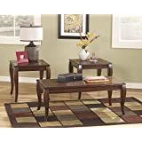 3 piece living room table set. Matty Reddish Brown Occasional Table Set  3PC Amazon com 3 Piece Coffee Tables Home Kitchen