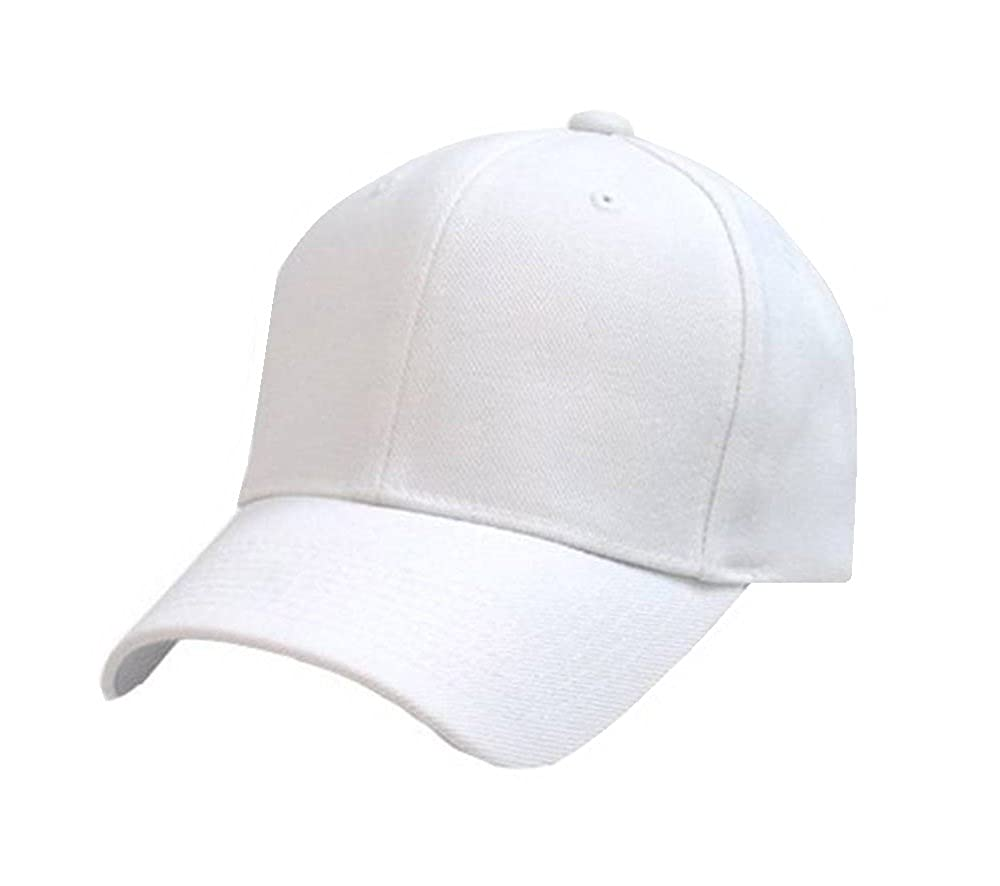 4668acac915 SAIFPRO Leather Plain White Stylish Cool Cap for Men and Women  Amazon.in   Clothing   Accessories