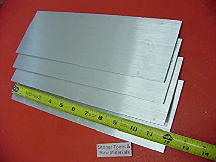 "2 pieces 1//4/"" X 2/"" ALUMINUM 6061 FLAT BAR 13/"" long T6511 Solid Mill Stock"