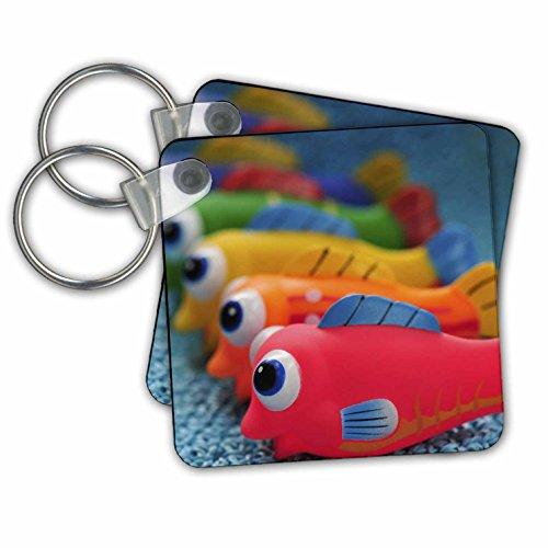 Danita Delimont - Toys - USA, Oregon, Portland. Fish bathtub toys - US38 BJA0464 - Jaynes Gallery - Key Chains - set of 2 Key Chains -
