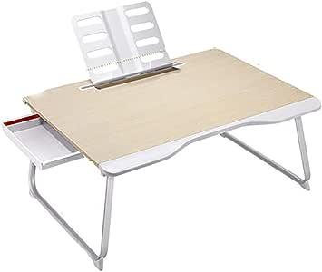 Qi Peng Mesa plegable - Cama Mesa pequeña Computadora portátil ...