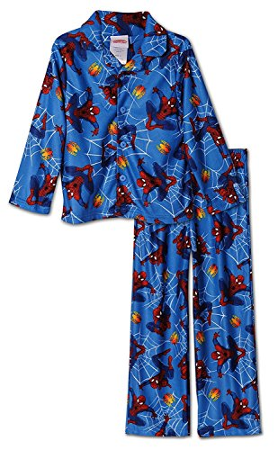 Marvel Spiderman 2 piece Coat Style Pajama, Kids Size 6 (Coat Style Pajamas)