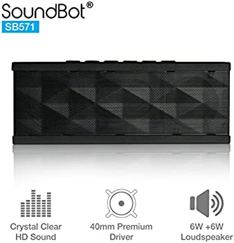 SoundBot SB571 Portable Bluetooth Speaker with 12W Output HD Bass