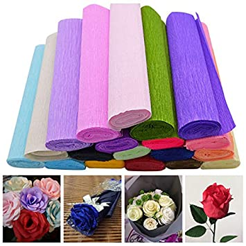 Amazon casamento nupcial diy startere 250x25cm 1 roll diy casamento nupcial diy startere 250x25cm 1 roll diy flower making crepe papers wrapping flowers gifts packing mightylinksfo