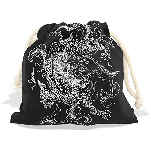 Jungle Ideas Dance Costume (Chinese Dragon Velvet Drawstring Gift Bag Wrap Present Pouches Favor for Jewelry, Coin, Holiday, Birthday,)
