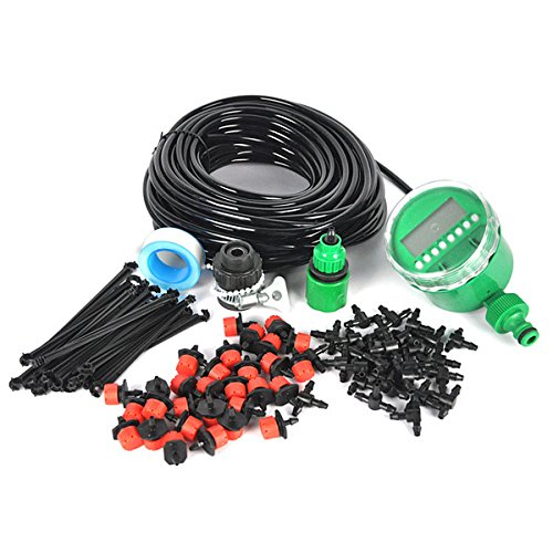 Drip Watering Landscape Kit - DIY Micro Irrigation Drip System, Pathonor 82ft Hose, 30 Dripper & Fixed stem, 29 Tee Joints, 2 Faucet Fittings- Tubing Watering Drip Kit for Garden Landscape Flower Bed Patio Plants