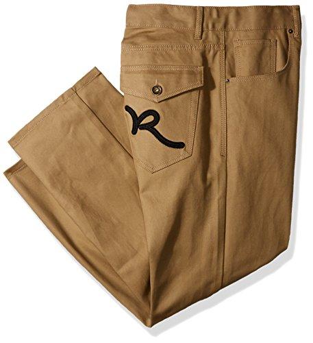 Rocawear Men's Big and Tall Battler Pant, Khaki, 60/32
