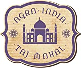 Taj Mahal India Vintage Label Home Decal Vinyl Sticker 14'' X 12''