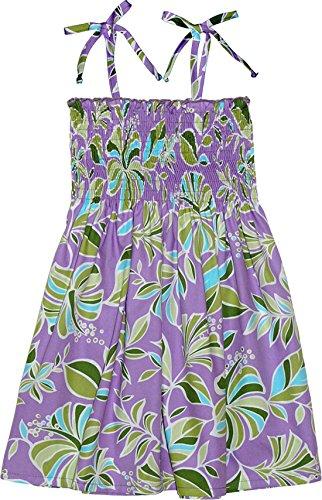 RJC Girls Mondern Flower Elastic Tube Dress PURPLE 10 by RJC
