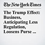 The Trump Effect: Business, Anticipating Less Regulation, Loosens Purse Strings | Binyamin Appelbaum,Jim Tankersley