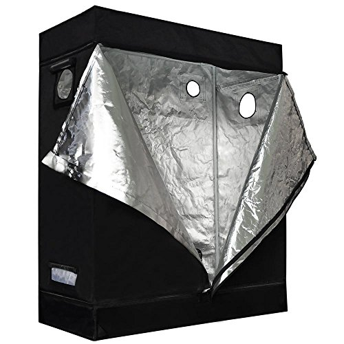 51fs0u73oAL - Approx. 4x2x5 Ft Interior Waterproof Diamond Mylar Reflective Hydroponics Grow Tent Cover Cabinet w/ Metal Construction & 210D Oxford for Outdoor Plant Flower Growing Tents