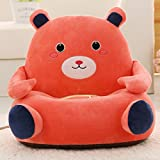 Children Detachable Plush Chair Cartoon - Animals Design Birthday Gifts Orange Bear Plush Toys 20 Inch