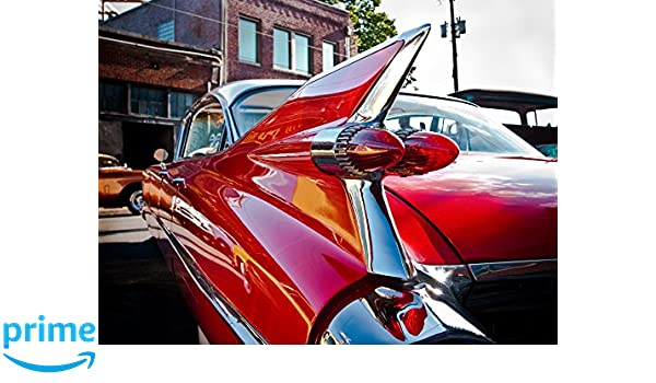 CANVAS /'Red Hot Rod/' Vintage Car Gallery Wrapped Art by Sonja Quintero