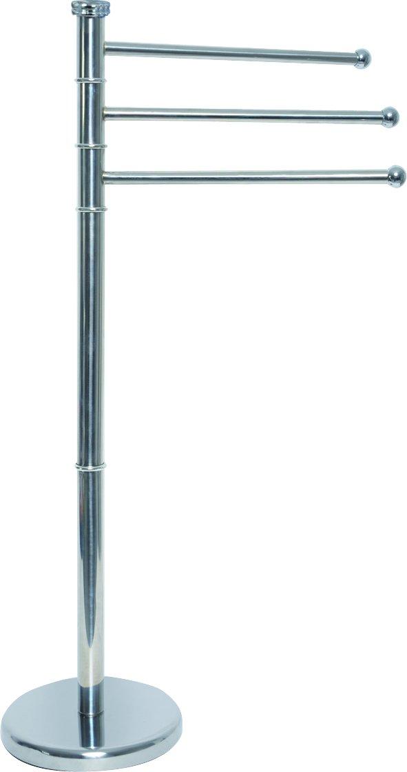EVIDECO Stainless Steel Towel Rack Tree 3 Swiveling Arms Chrome