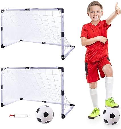 Youth Soccer Goal Net Football Sports Pump Set Outdoor Indoor Training Children