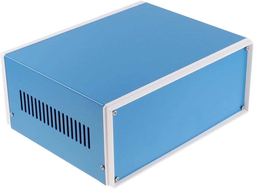sourcing map 245 mm x 190 mm x 110 mm Caja de Proyecto de Caja de Metal Azul Caja de Conexiones de Bricolaje