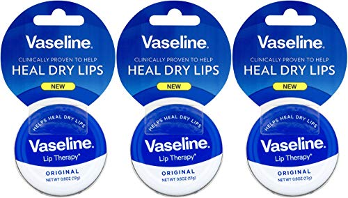 Vaseline Therapy Lip Balm Tin, Original, 0.6 Ounce (Pack of 3) (The Best Lip Therapy)