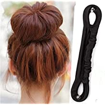 ANGELANGELA 2Pc Big and Small Elegant French Twist Holder Magic Roll Clip Donut Bun Button Former Pads Foam Hair Maker Braid Ponytail Hairstyle Styling Tool Accessory