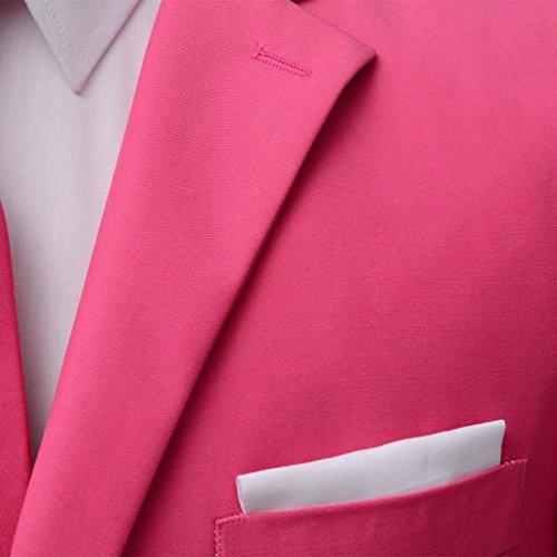 2 Vidaxl Avec 46 Pour Taille 56 Costume Hommes Rose Cravate Piã¨ces rX6TXZwnq