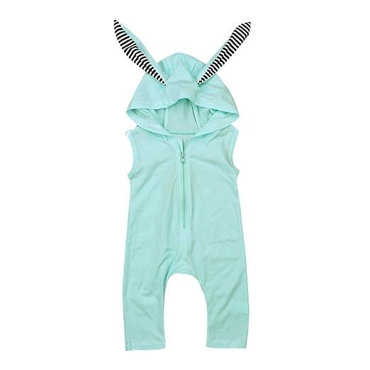b72b41a6f Amazon.com  Fineser Infant Baby Girls Summer Sleeveless Romper ...