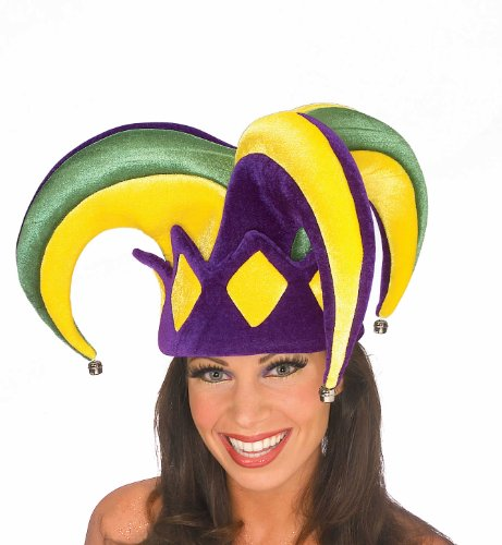 Rubie's Mardi Gras Royale Jester Hat, Adult White -