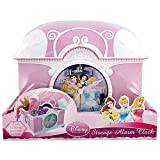 """Disney Products - Disney Princess Alarm Clock with Compartment, 6""""H - size 6in x 5in x 4in"""