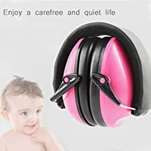 Baby Earmuffs Ear Defenders Hearing Protector Foldable Headband Ear muffle Hearing Protection Noise Reduction For Children kids adult (Pink)