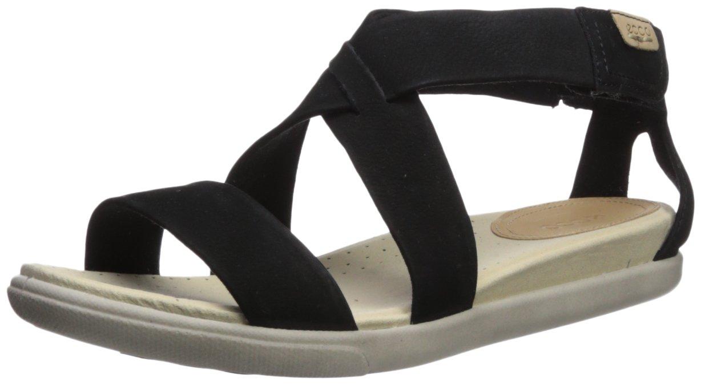 ECCO Footwear Womens Women's Damara Strap Sandal, Black Casual, 37 EU/6-6.6 M US
