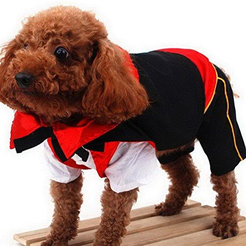 [SELMAI Vampire Dog Halloween Costumes Jumpsuit Pet Tee Shirts Puppy Apparel Monster Cape XL] (Chinese Vampire Costume)