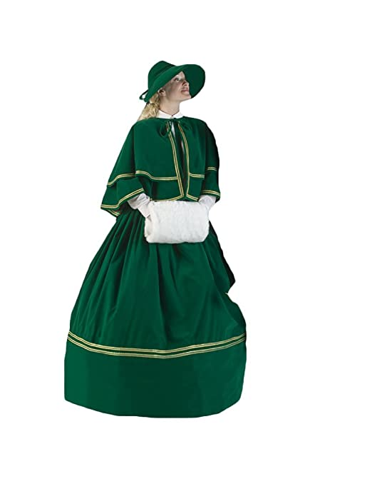 Victorian Costumes: Dresses, Saloon Girls, Southern Belle, Witch Womens Charles Dickens Caroler Costume $399.99 AT vintagedancer.com
