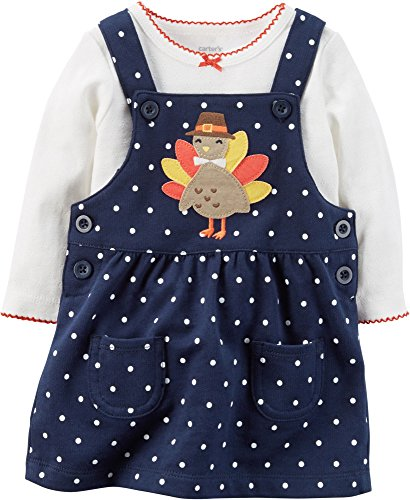 Thanksgiving Outfit For Baby Girl (Carter's Baby Girls' 2 Piece Top And Jumper Set 9 Months)