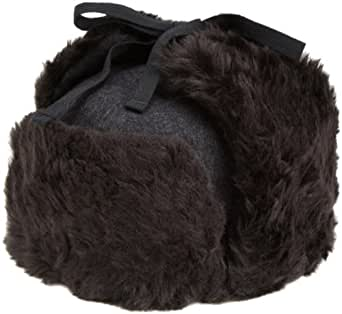 Kangol  Men's Wool Ushanka Hat,Black,Small