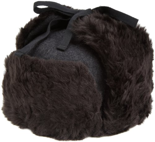 Kangol Men's Wool Ushanka Hat, Black