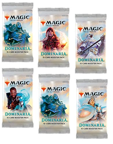 6 (Six) Packs - Magic: the Gathering - MTG: Dominaria Booster Packs (6 Pack - 2 Player Draft Lot) Draft Box
