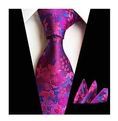 Men's Novelty Handmade Ties Set Fashion Dark Purple Blue Wedding Dance Neckties ()