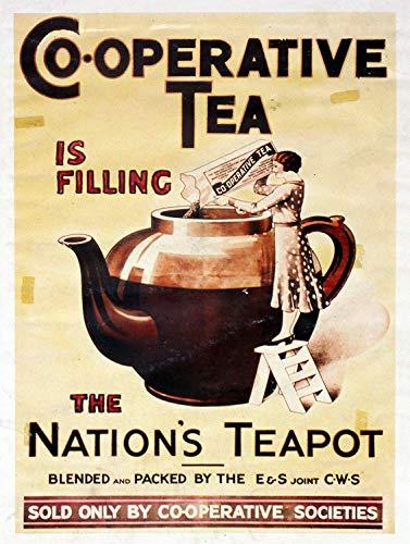 コーポラティブティーThe Nations Teapot 金属板ブリキ看板注意サイン情報サイン金属安全サイン警告サイン表示パネル