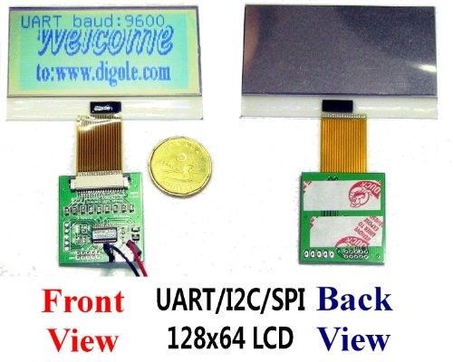Serial:UART/IIC/I2C/SPI 128x64 12864 Slim Graphic LCD Module for Arduino/PIC/AVR