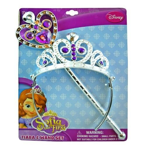 [Disney Princess Sofia the First Tiara and Wand Set - Silver and Purple] (Sofia The First Dress Up Costume)