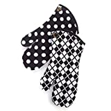 MacKenzie-Childs Black & White Dot Oven Mitts - Set of 2