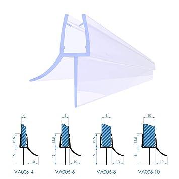 Duschdichtung Duschkabine Wasserabweiser Typ VA006 Glasstärke 4 6 8,10 mm