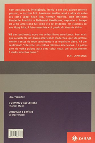 Livro: Estudos Sobre A Literatura Clássica Americana. Coleção Estéticas 2