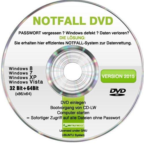 Recovery & Repair CD DVD 2016 für WINDOWS 10 Win 8 Windows 7 Vista XP Lösung bei PASSWORT vergessen und Daten verloren ? Windows defekt?
