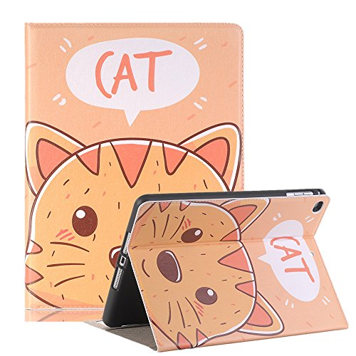 10.5 inch iPad Case Pro 10.5 Sleeve,TechCode Luxury Cute Cartoon Pattern Folio Stand Protective Case PU Leather Book Cover With Credit Card Slots & Pencil Holder Slim Fit for Apple iPad Pro 10.5 inch by TechCode (Image #10)