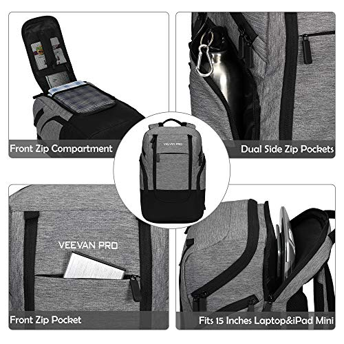 Bolsa-de-Almuerzo-22L-Cooler-Backpack-24-Cans-Cooler-Bag-Gris miniatura 3