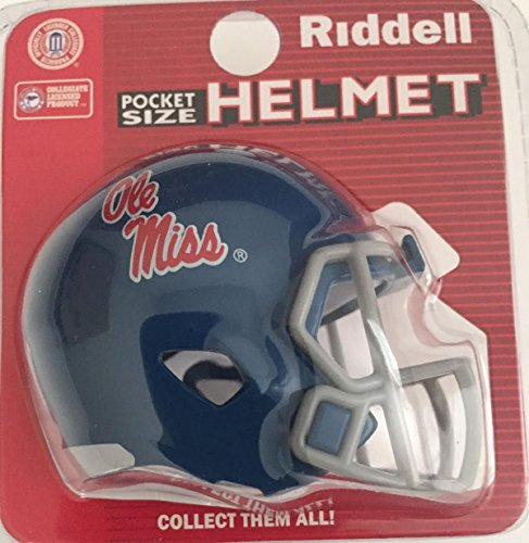 Riddell Mississippi OLE Miss Rebels NCAA Football Helmet Christmas Tree Ornament