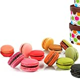 Leilalove FESTIVE - 12 baked to order Macarons - Gift box included May Vary in Style